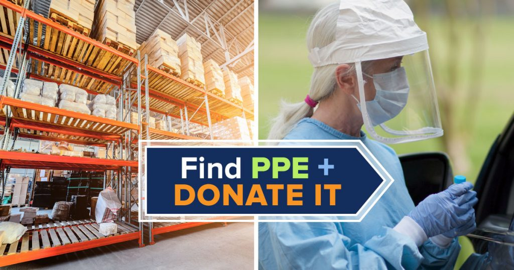 Find PPE and donate it